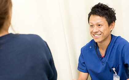 親切、丁寧、笑顔をモットーに。 頼れるスタッフ、通い続けられる鍼灸整骨院
